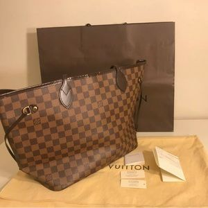 Authentic Louis Vuitton LV Damier Tote Bag